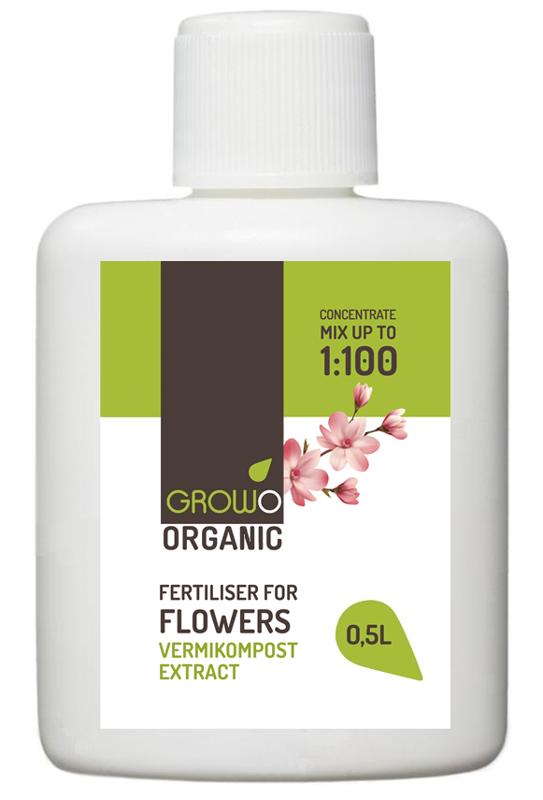 Organiskais mēslojums puķēm 0.5L