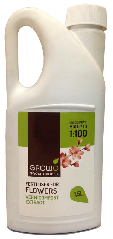 Organiskais mēslojums puķem 1.5L